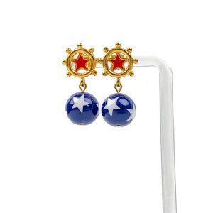 Avon Vintage Earrings Star Spangle Dangle Pierced